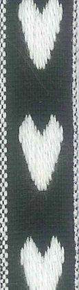 One Heart Svart/Vit 12mm