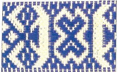Hemslöjdsband Blå 40mm