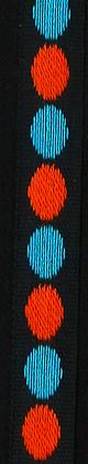 Prickband Orange/Turkosblå 10mm