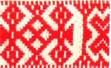 Hemslöjdsband Röd 40mm