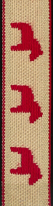 Dekorationsband Dalahästar 13mm