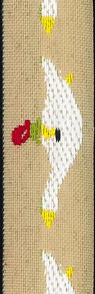 Dekorationsband Gåsapåg 22mm
