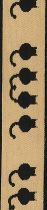 Dekorationsband Katt 25mm