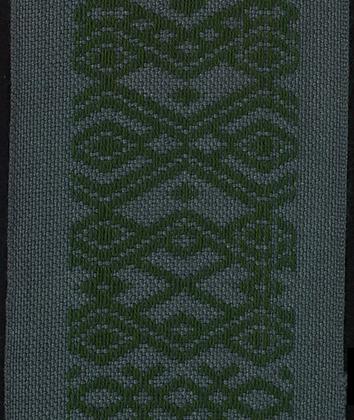 Hemslöjdsband Grå/Grön 50mm