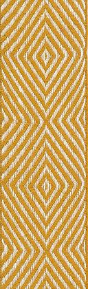 Textilband i lin 40mm Gul