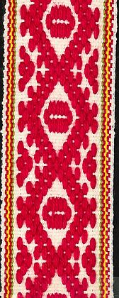 Hemslöjdsband Röd 25mm