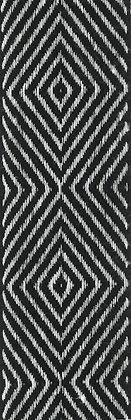Textilband i lin 40mm Svart