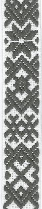 Hemslöjdsband Grå 25mm