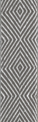 Textilband i lin 40mm Grå