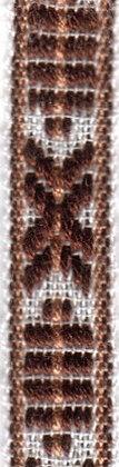 Allmogeband 10mm Brun/Vit