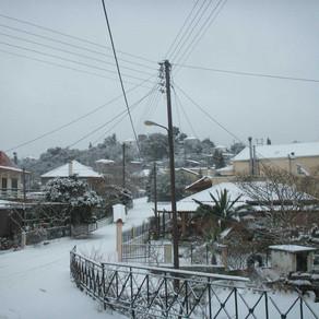 Εικόνες απ το χιονισμένο Φωτεινό