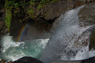 Looking down Nooksack Falls.  Photo:  Chuck Martin, Flickr Creative Commons