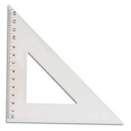 Une Équerre de papeterie à 45°.