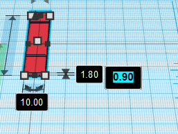TinkerCAD - Changer une dimension.