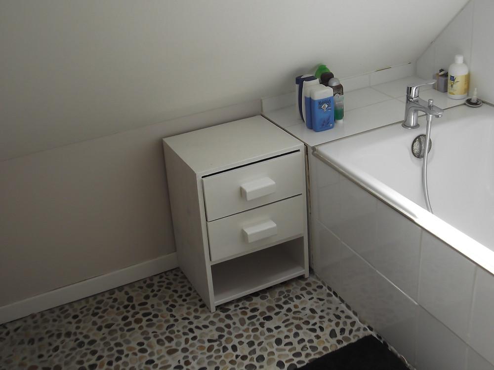 Meuble de salle de bain sur mesure.