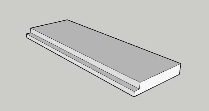 Sketchup for web - Réaliser une feuillure ( 2 ).