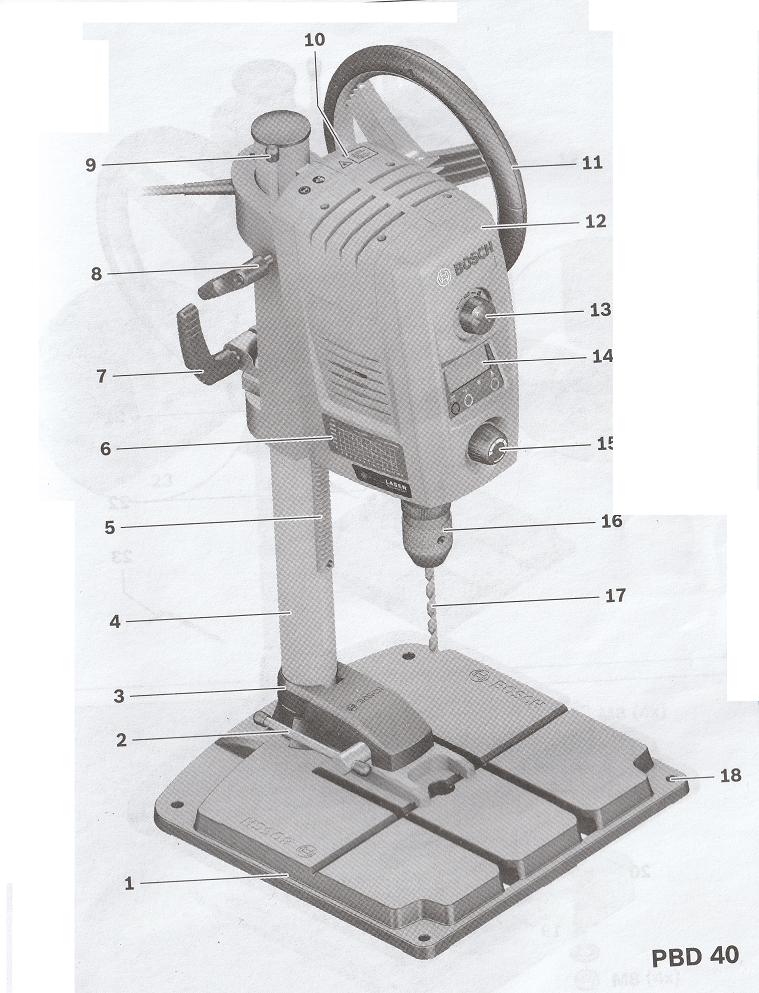 Défonceuse Bosch PBD 40