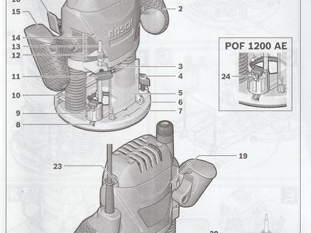 Les composants essentiels d'une défonceuse : La POF 1400 de Bosch.