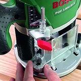 Défonceuse Bosch POF 1400 - Réglage de la profondeur.