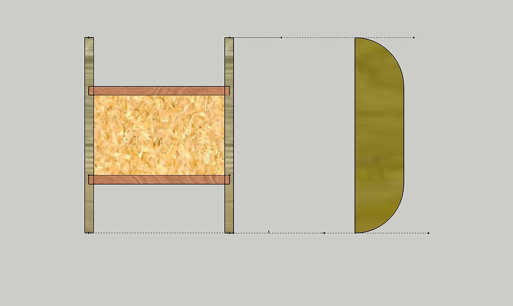 La modélisation d'un projet en 2D : Le porte savon.