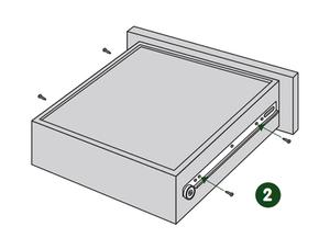La coulisse à galets à fixation latérale et sortie partielle - notice 2
