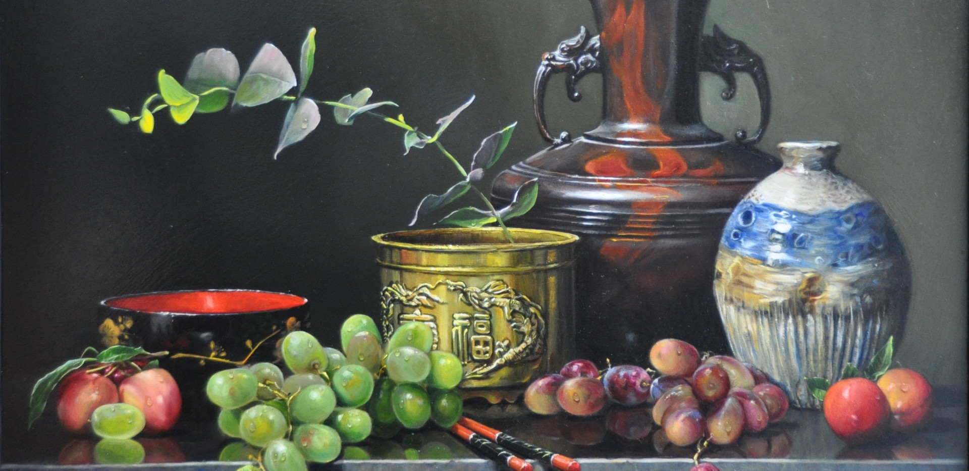 Brass and plums