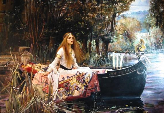 J.W. Waterhouse The Lady of Shallot