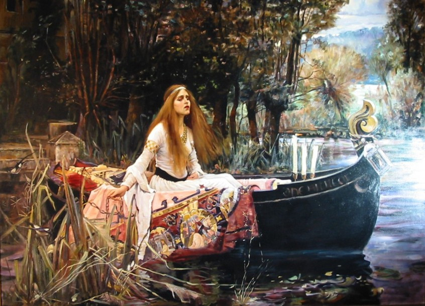 J.W. Waterhouse The Lady of Shallot