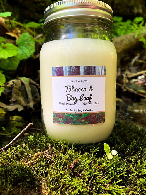 Tobacco & Bay Leaf Soy Candle