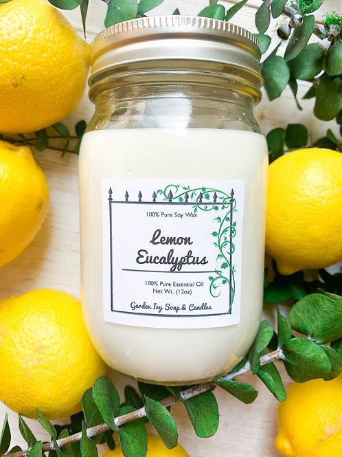 Lemon Eucalyptus Essential Oil Soy Candle