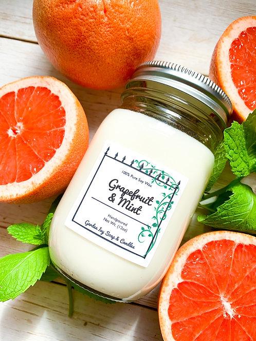 Grapefruit & Mint Soy Candle