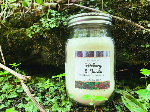 Hickory & Suede Soy Candle