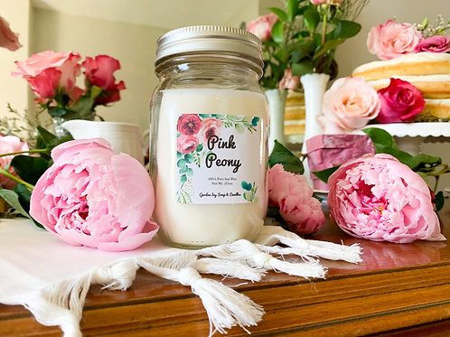 Pink Peony Soy Candle