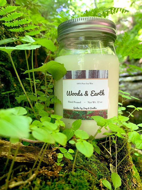 Woods & Earth Soy Candle