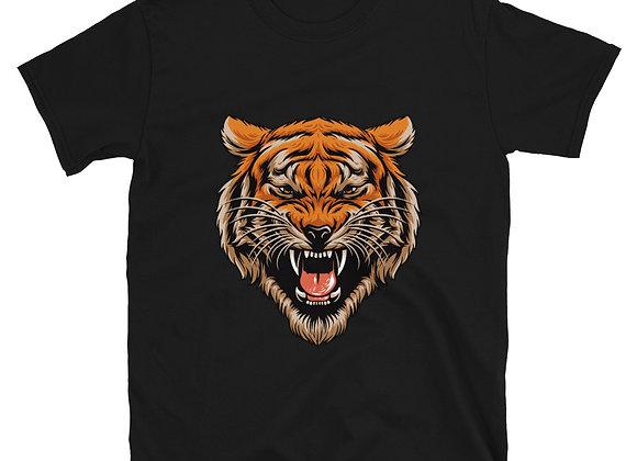 Tiger Head Short-Sleeve Unisex T-Shirt