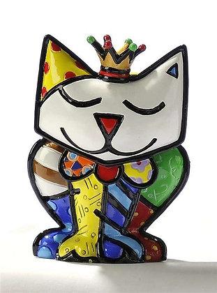 """Romero Britto's """"Princess"""" Mini Cat Collector's Figurine"""