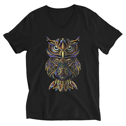 Owl Unisex Short Sleeve V-Neck T-Shirt