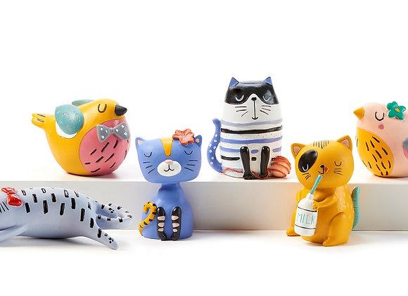 """Cat or Bird Figurine 4"""""""