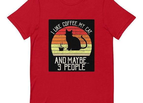 Cats & Coffee Adult Short-Sleeve T-Shirt