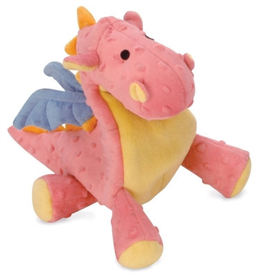 GoDog Dragons Chew Guard Squeaky Plush Dog Toy