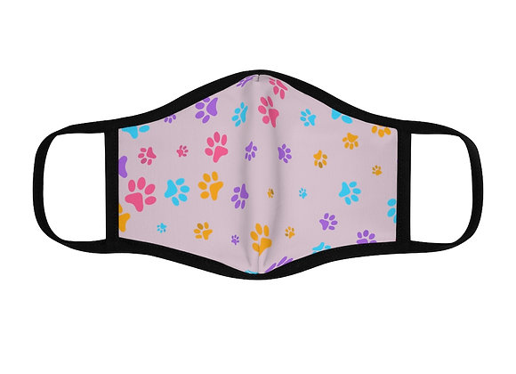 Paw Print Polyester Face Mask