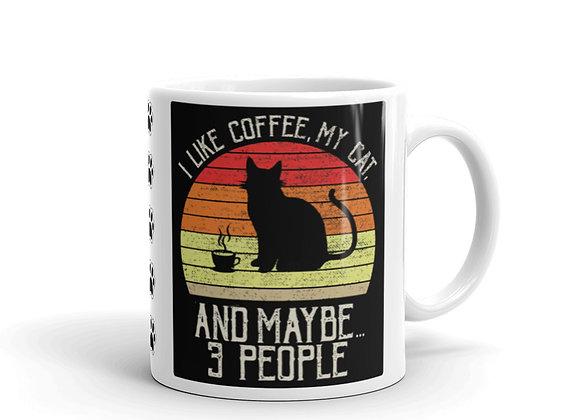 Cats & Coffee Mug - White