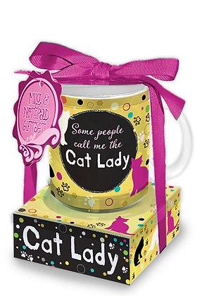 Mug & Note Stack: Cat Lady