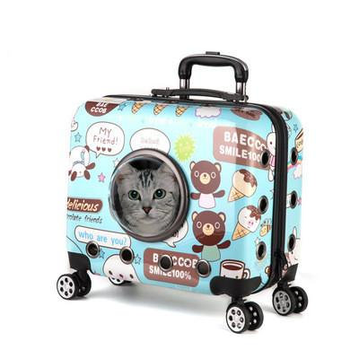 Small Pet Rolling Carrier (Kitty not included)