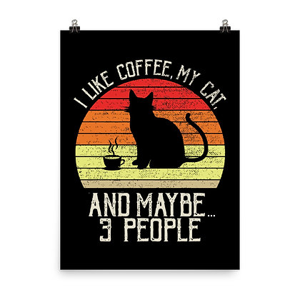 Cats & Coffee Poster