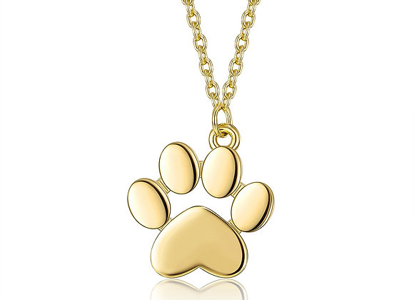 18K Gold Plated Pet's Paw Necklace
