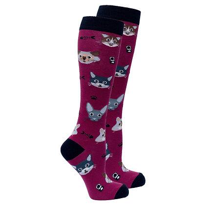 Women's Cute Cats Knee High Socks