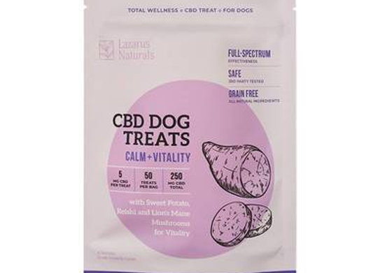 CBD Calm + Vitality Dog Treats - 250mg