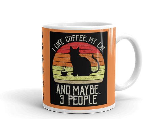 Cats & Coffee Mug - Orange