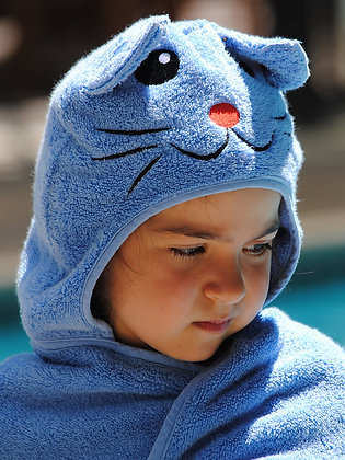 Cat Hooded Cotton Turkish Towel: Baby